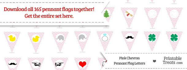 Pink Chevron Pennant Flag Letters Download