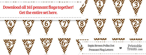 Sepia Polka Dot Pennant Flag Letters Download
