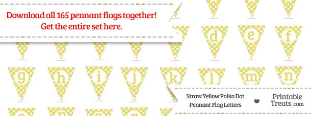 Straw Yellow Polka Dot Pennant Flag Letters Download