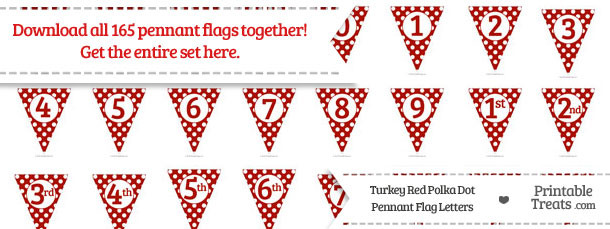 Turkey Red Polka Dot Pennant Flag Letters Download