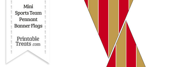 49ers Colors Mini Pennant Banner Flags