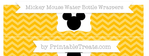 Free Amber Chevron Mickey Mouse Water Bottle Wrappers ...