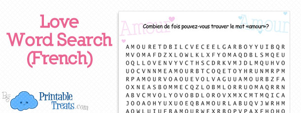 free-amour-word-search