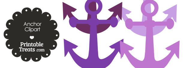 Anchor Clipart in Shade of Purple from PrintableTreats.com