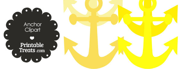 Anchor Clipart in Shades of Yellow from PrintableTreats.com