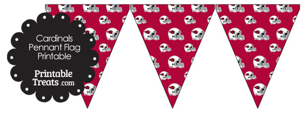 Arizona Cardinals Football Helmet Pennant Banners