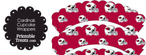 Arizona Cardinals Football Helmet Scalloped Cupcake Wrappers