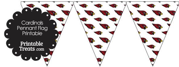 Arizona Cardinals Logo Pennant Banners