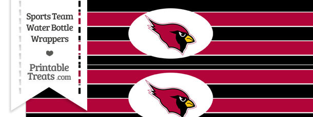 Arizona Cardinals Water Bottle Wrappers
