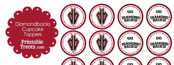 Arizona Diamondbacks Cupcake Toppers