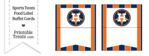 Astros Food Label Buffet Cards