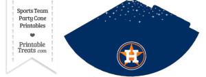 Astros Party Cone Printable