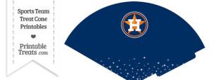 Astros Treat Cone Printable