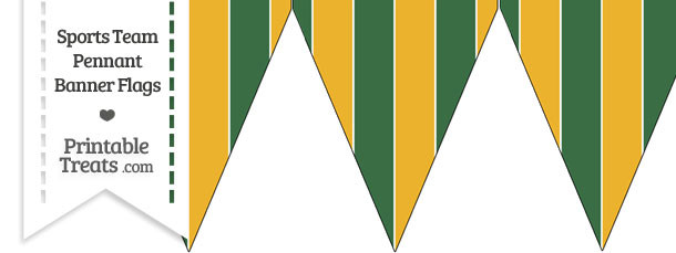 Athletics Colors Pennant Banner Flag