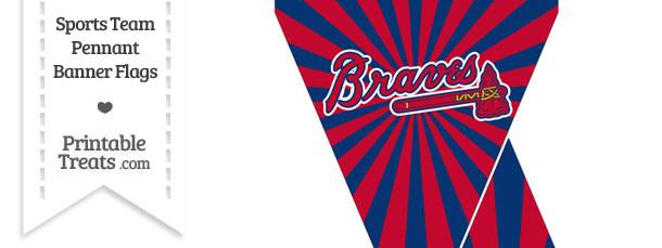 Atlanta Braves Mini Pennant Banner Flags