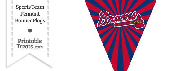 Atlanta Braves Pennant Banner Flag