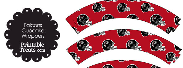 Atlanta Falcons Football Helmet Cupcake Wrappers