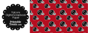 Atlanta Falcons Football Helmet Digital Paper