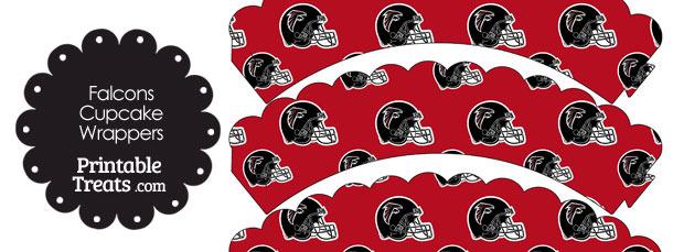 Atlanta Falcons Football Helmet Scalloped Cupcake Wrappers
