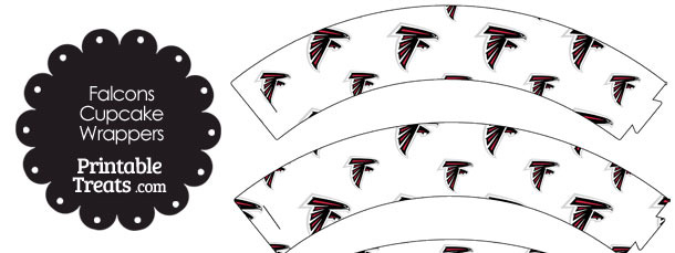 Atlanta Falcons Logo Cupcake Wrappers