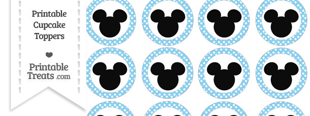 Free Baby Blue Polka Dot Mickey Mouse Cupcake Toppers ...