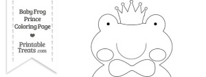 Baby Frog Prince Kids Coloring Page