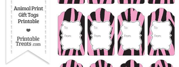 Baby Pink Zebra Print Gift Tags