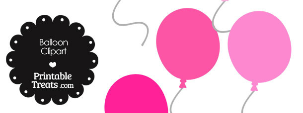 Balloon Clipart in Shades of Pink