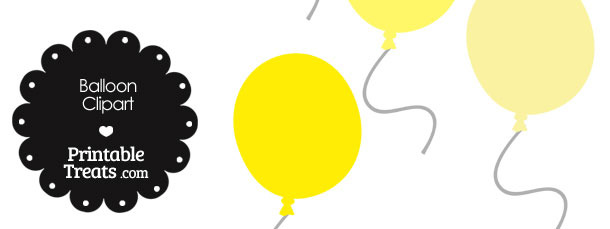 Balloon Clipart in Shades of Yellow