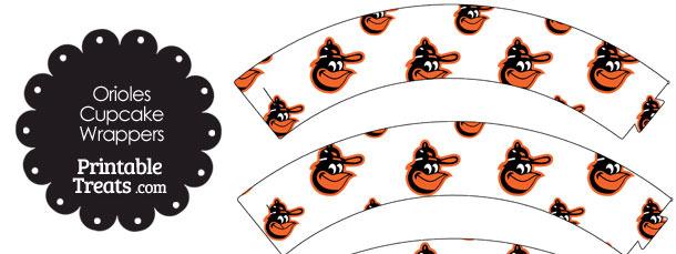 Baltimore Orioles Baseball Cupcake Wrappers