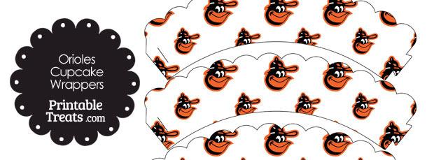 Baltimore Orioles Baseball Scalloped Cupcake Wrappers