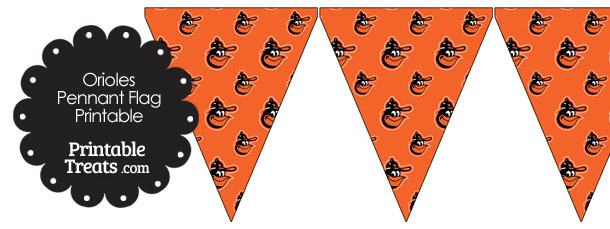 Baltimore Orioles Baseball with Orange Background Pennant Banners