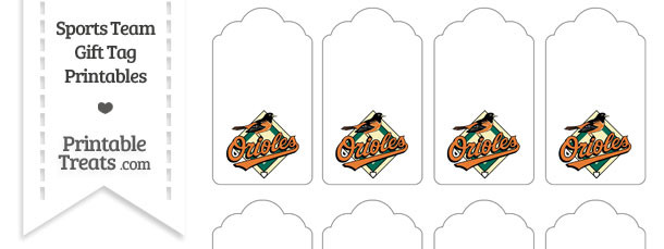 Baltimore Orioles Gift Tags