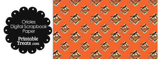 Baltimore Orioles Logo Digital Paper