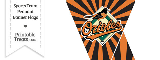 Baltimore Orioles Mini Pennant Banner Flags