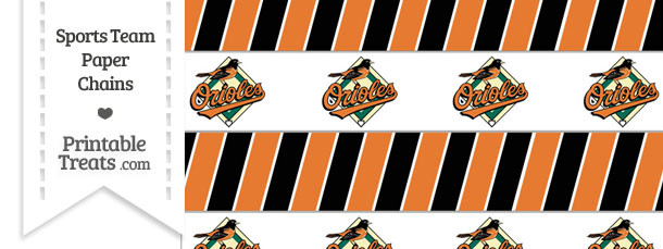 Baltimore Orioles Paper Chains