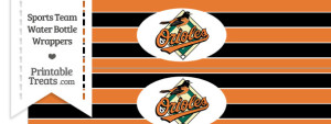 Baltimore Orioles Water Bottle Wrappers