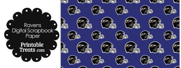 Baltimore Ravens Football Helmet Digital Paper