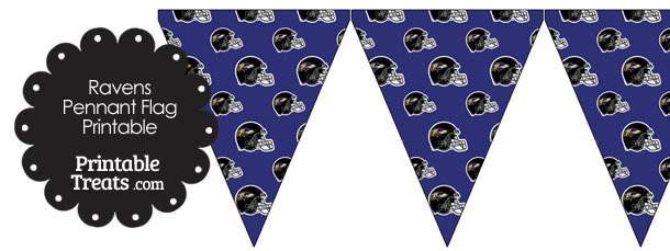 Baltimore Ravens Football Helmet Pennant Banners