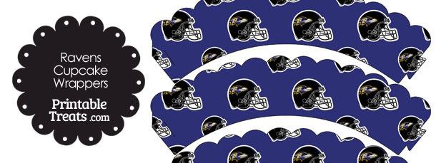 Baltimore Ravens Football Helmet Scalloped Cupcake Wrappers