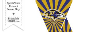 Baltimore Ravens Mini Pennant Banner Flags