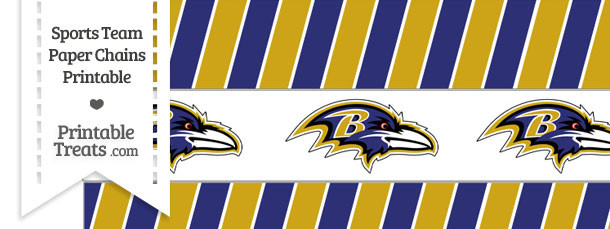Baltimore Ravens Paper Chains
