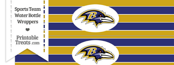 Baltimore Ravens Water Bottle Wrappers