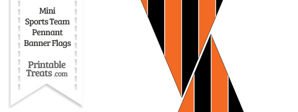 Bengals Colors Mini Pennant Banner Flags