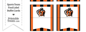 Bengals Food Label Buffet Cards