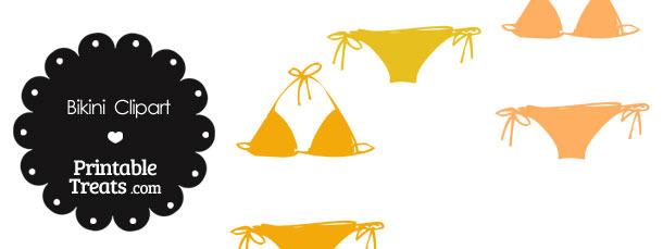 Bikini Clipart in Shades of Orange