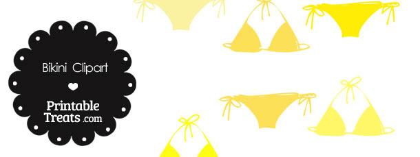 Bikini Clipart in Shades of Yellow