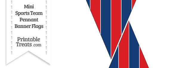 Bills Colors Mini Pennant Banner Flags