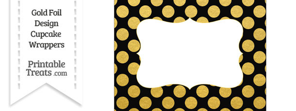 Black and Gold Foil Dots Chocolate Bar Wrappers
