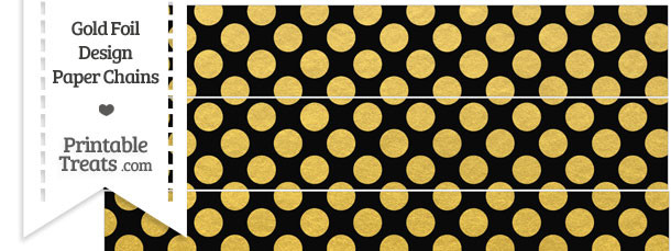 Black and Gold Foil Dots Paper Chains